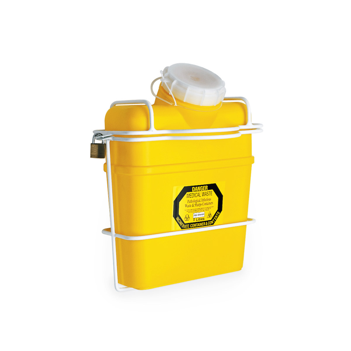 8 Litre Sharps Cage Wall Mount