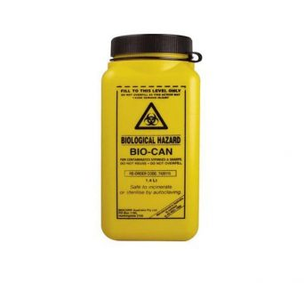 1.4L Sharps Container Yellow with Screw Lid