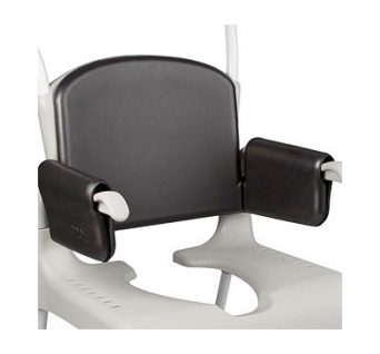 backrest with integrated armrest