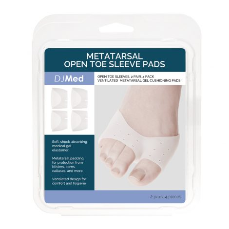 Metatarsal Open Toe Sleeve Pads box