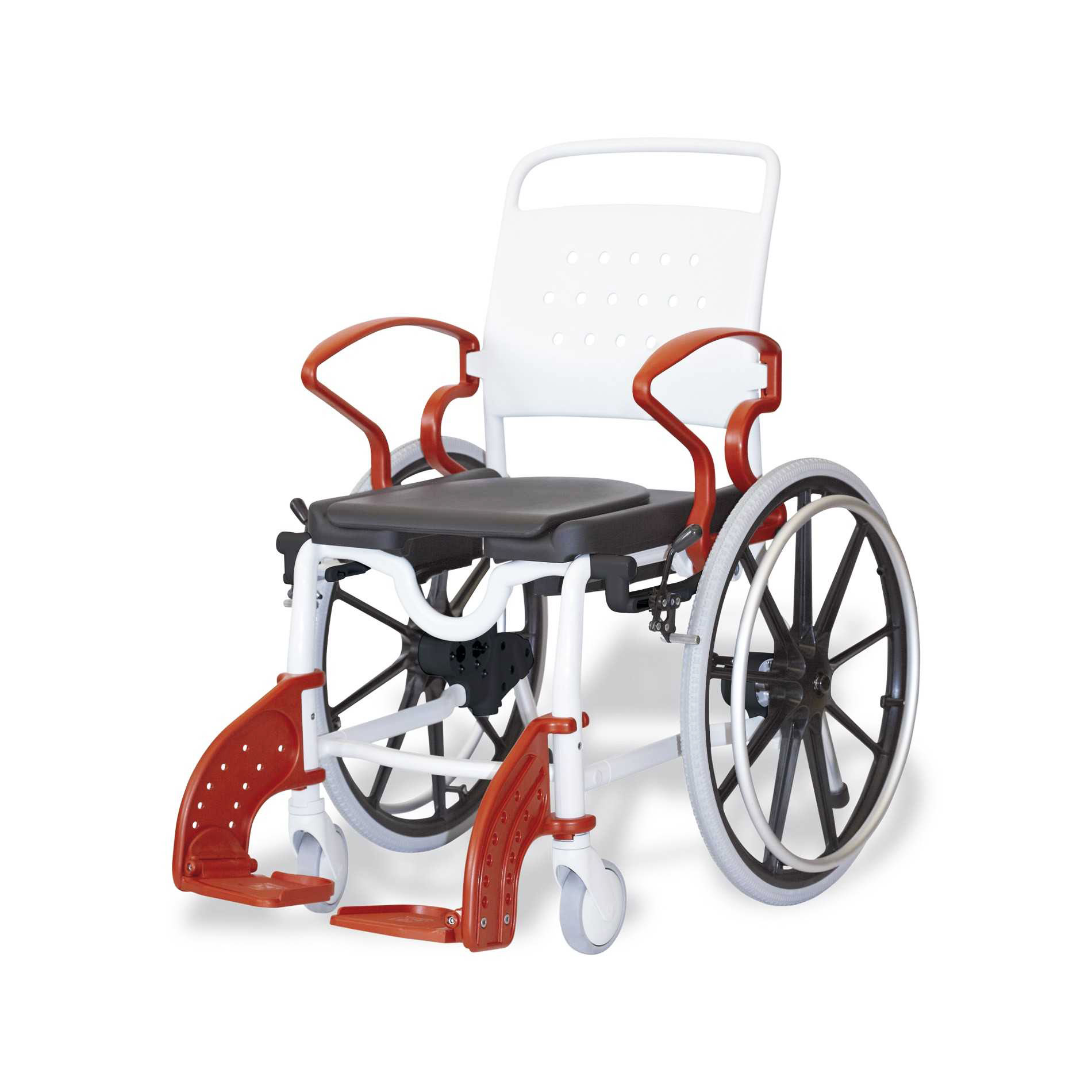 Commode Wheelchair Self Propelled Toilet