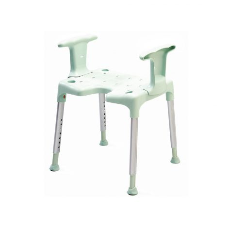 Shower Stool With Sides Support Etac Green