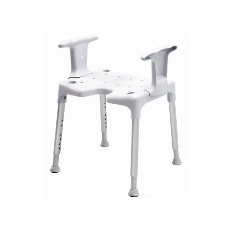 Shower Stool With Sides Support Etac Grey